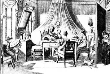 Weibliche Bildung im 19. Jahrhundert: Fesselung von Kopf