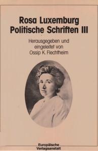 Politische Schriften III